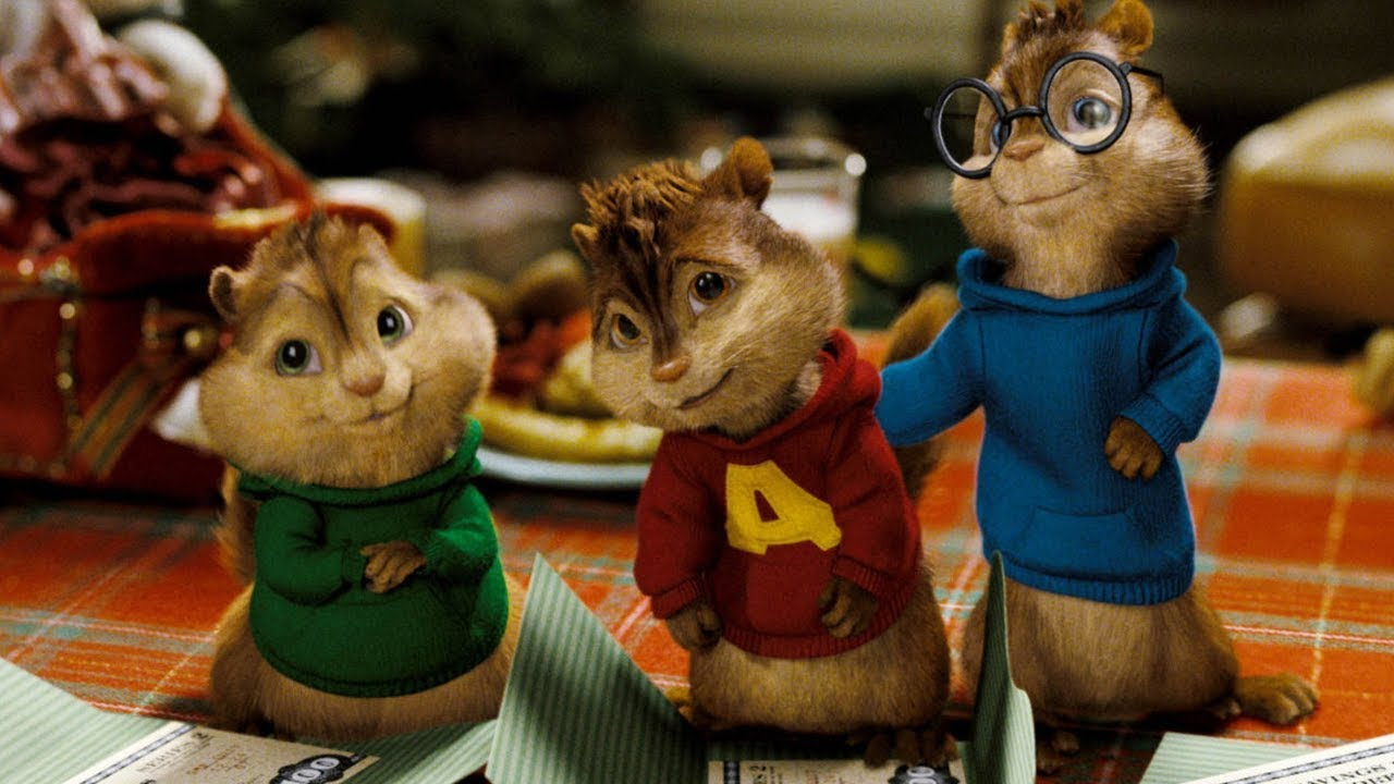 Alvin and the Chipmuks in live-action - Theodore, Alvin and Simon in Alvin and the Chipmunks (2007)