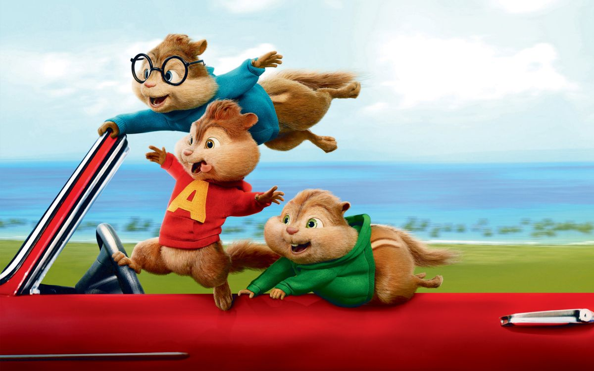 The Chipmunks embark on a road trip in Alvin and the Chipmunks: The Road Chip (2015)