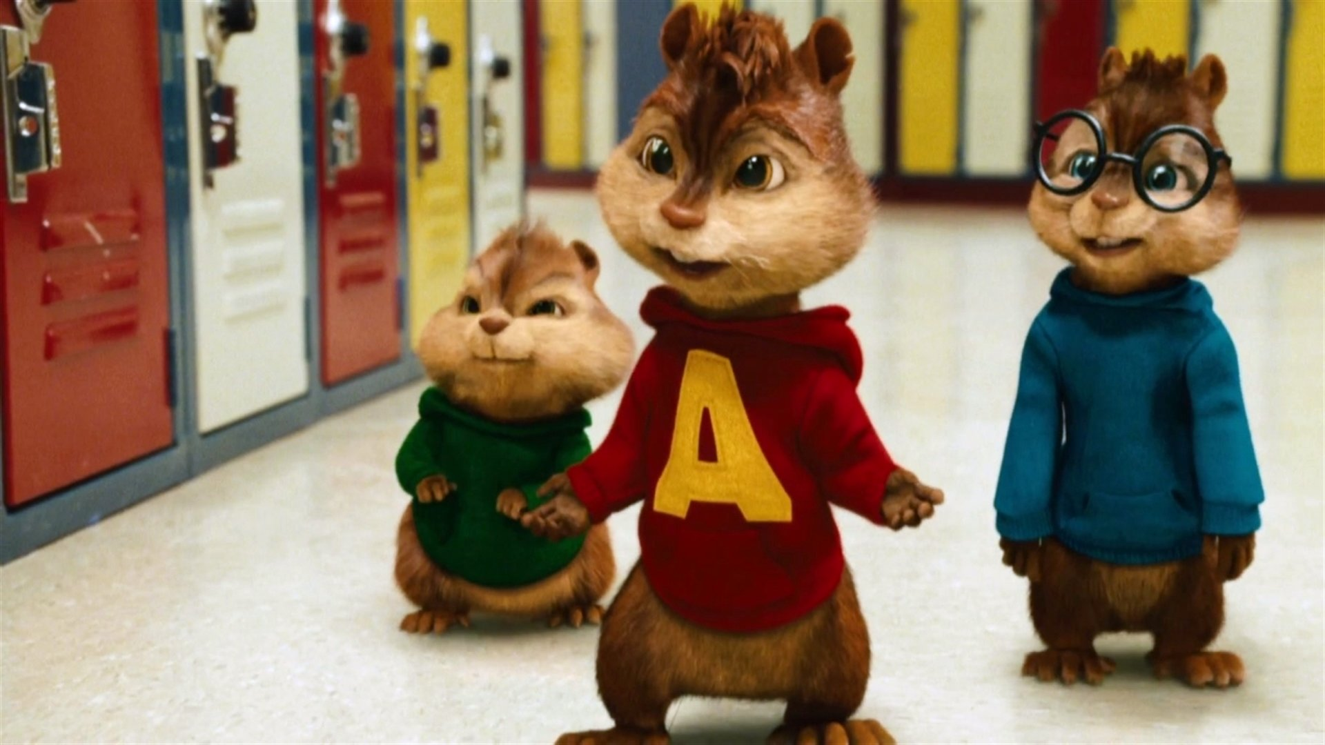 Alvin and the Chipmunks go to school in Alvin and the Chipmunks: The Squeakquel (2009)