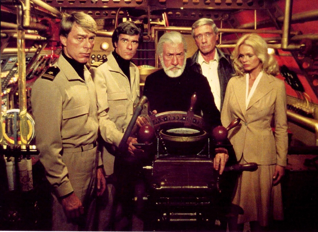 Burr de Benning, Tom Hallick, Jose Ferrer, Mel Ferrer, Lynda Day George in The Amazing Captain Nemo (1978)