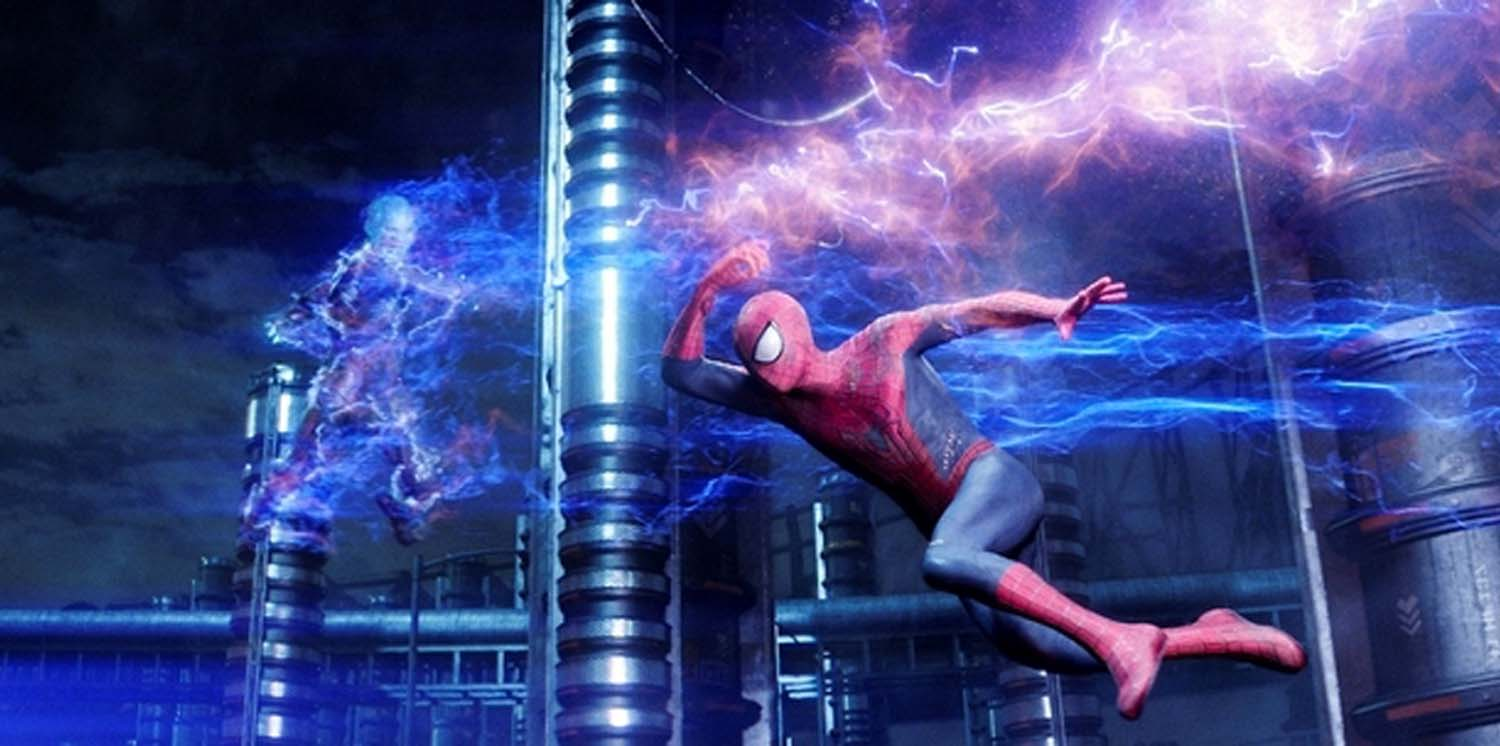 Spider-Man vs Electro in The Amazing Spider-Man 2 (2014)
