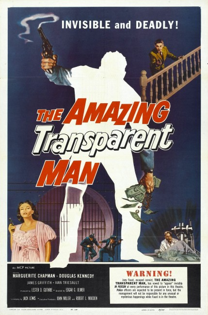 The Amazing Transparent Man (1960) poster