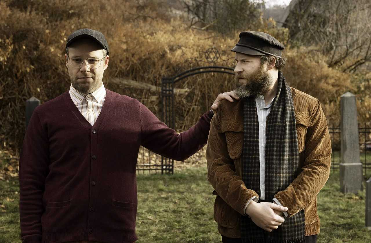 Seth Rogen as Herschel Greenbaum and his great-grandson Ben in An American Pickle (2020)