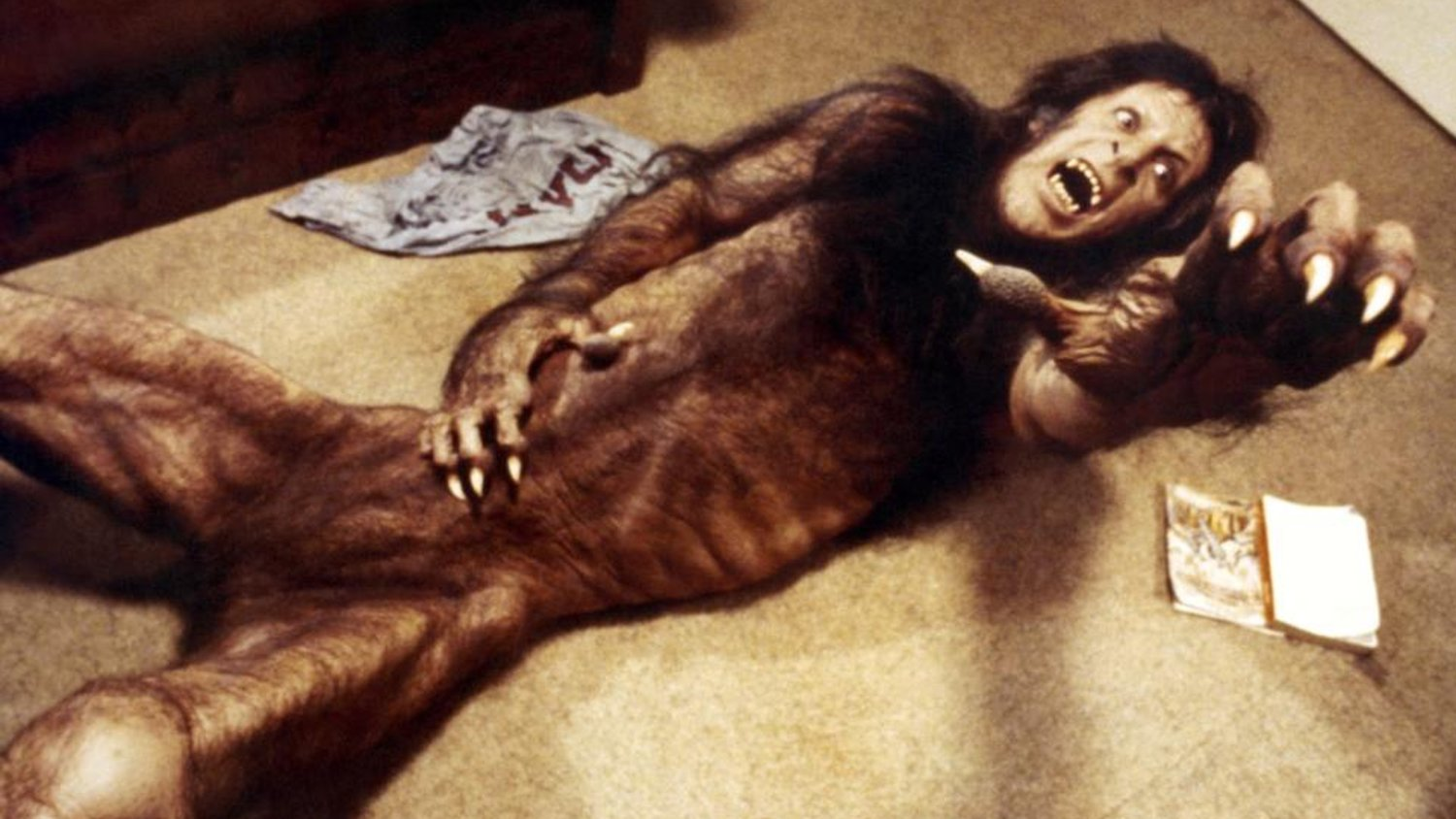 David Naughton transforms into a werewolf in An American Werewolf in London (1981)
