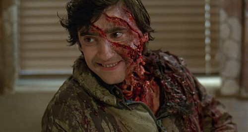 Best friend Griffin Dunne keeps turning up as a corpse in An American Werewolf in London (1981)
