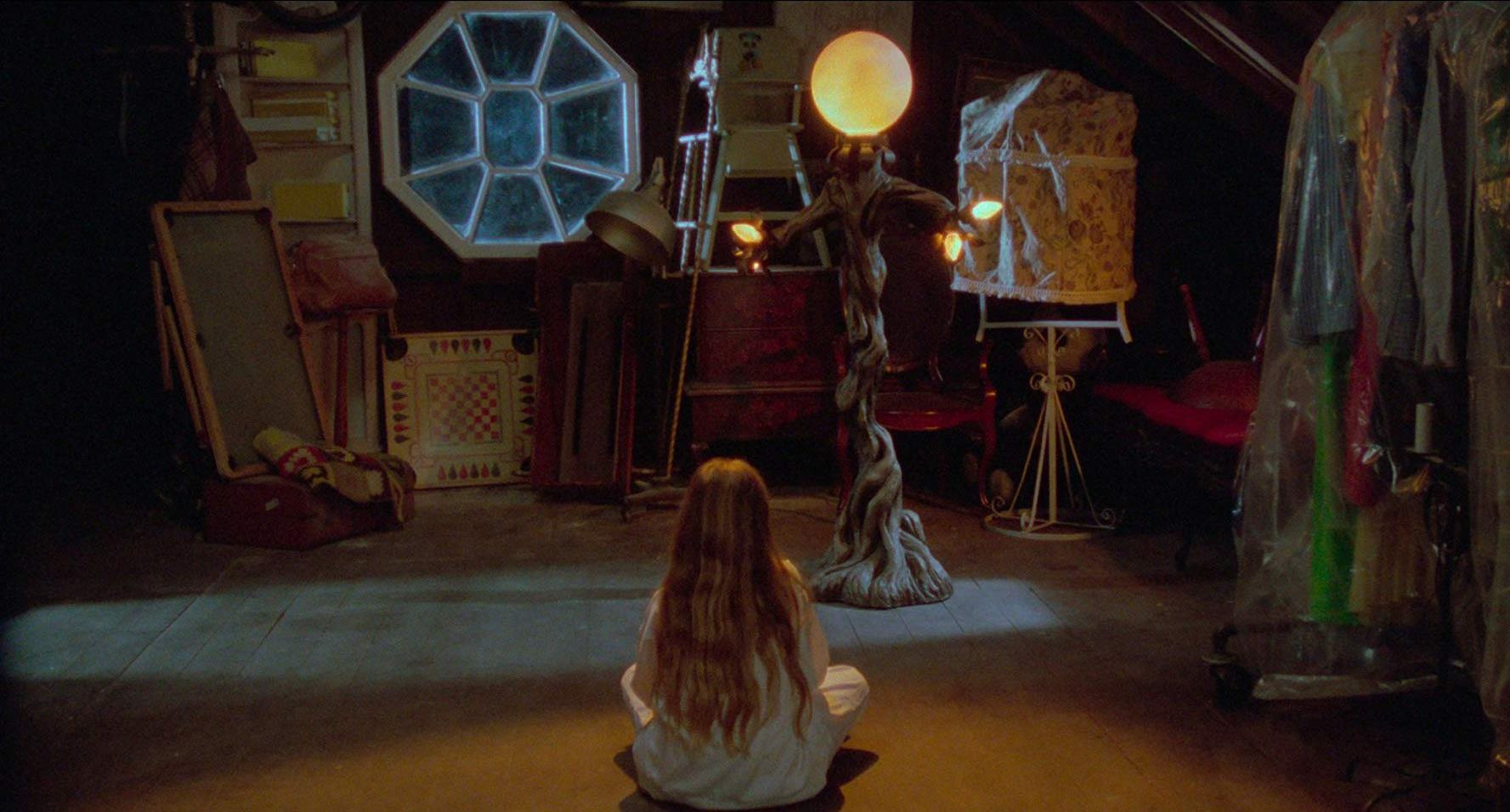 Young Brandy Gold and the possessed lamp in Amityville: The Evil Escapes (1989)