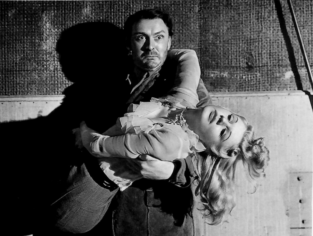 Psychopathic twin Albert Dekker abducts Jean Phillips in Among the Living (1941)