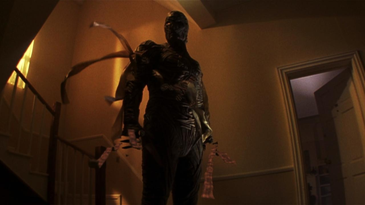 The revived Aztec mummy (Anton Falk) in Ancient Evil: Scream of the Mummy (1999)