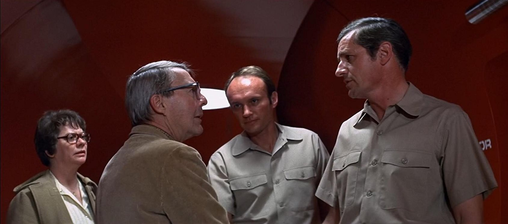 The Wildfire scientists - Kate Reid, David Wayne, James Olson, Arthur Hill - in The Andromeda Strain (1971)