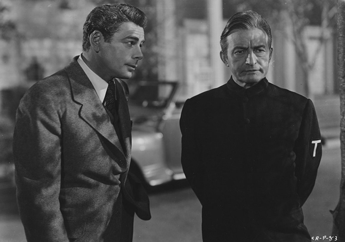 Paul Muni, Claude Rains in Angel on My Shoulder (1946)