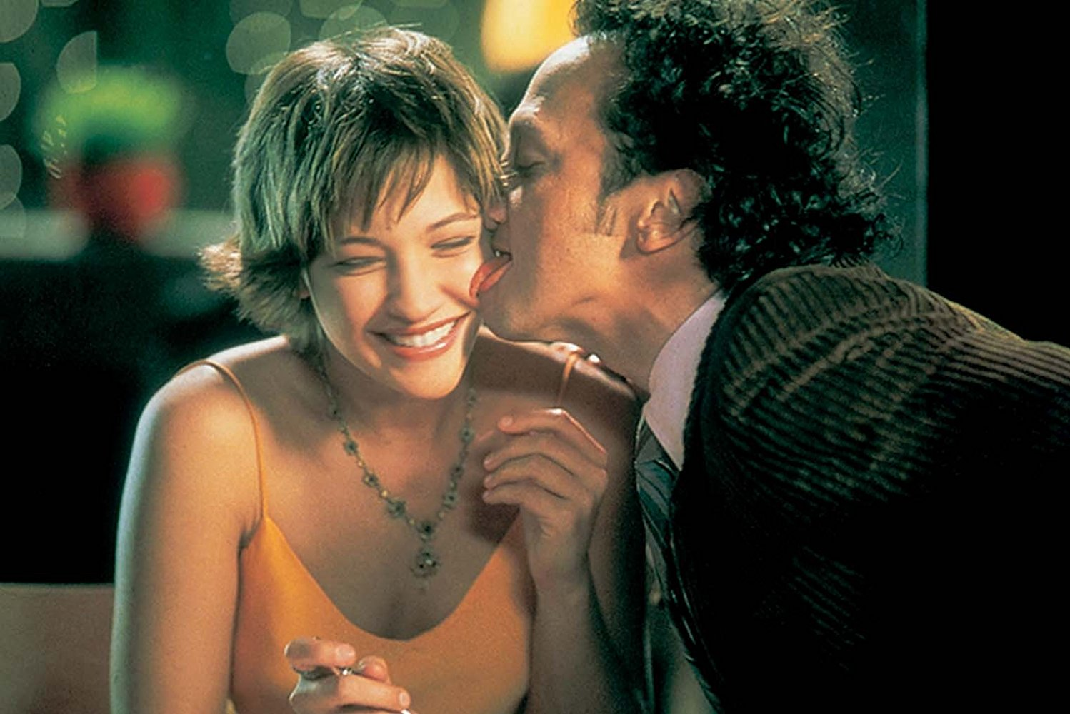 Rob Schneider gives Colleen Haskell a lick in The Animal (2001)