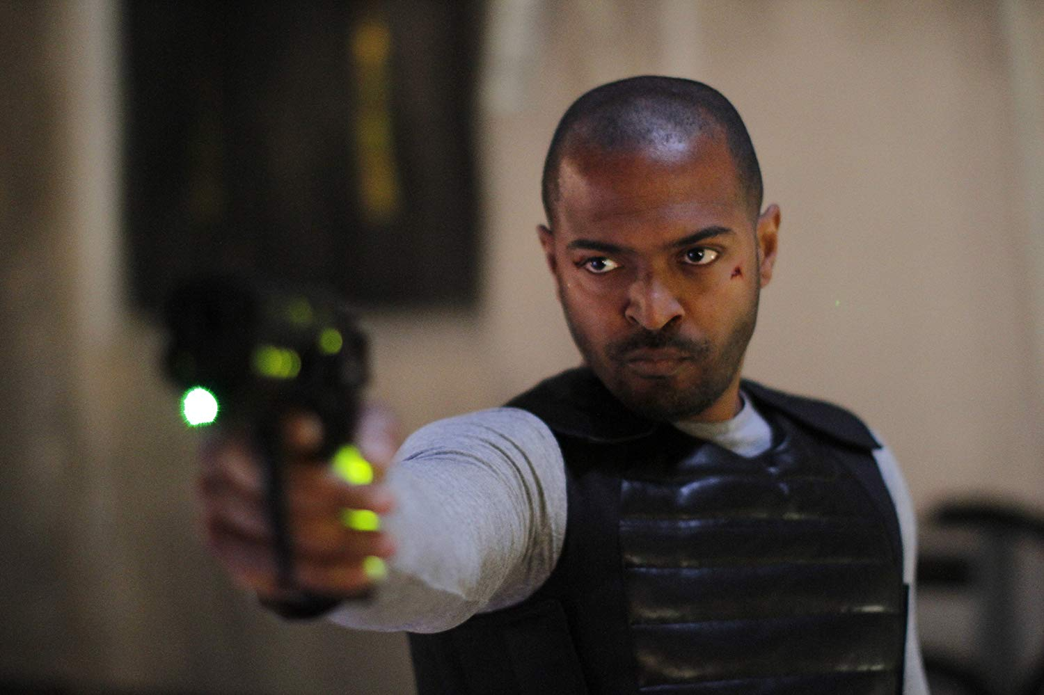 Noel Clarke (also the film's director) as a man facing a baffling series of temporal jumps in The Anomaly (2014)