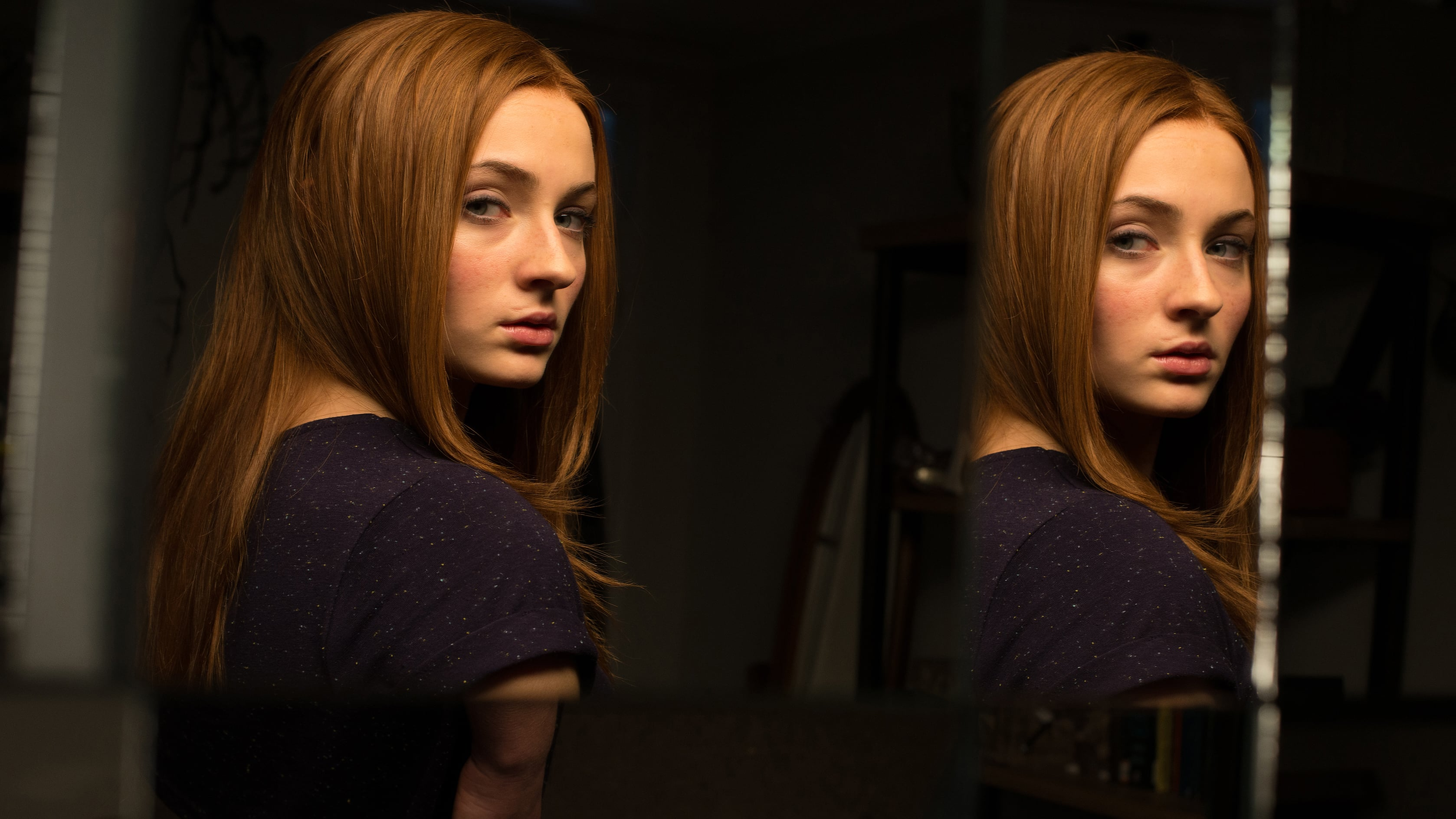 Sophie Turner as a regular British schoolgirl facing a doppelganger in Another Me (2013)