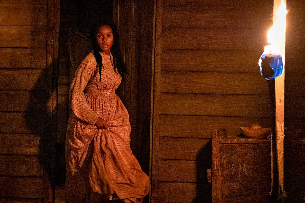 Janelle Monáe as the slave Eve in Antebellum (2020)