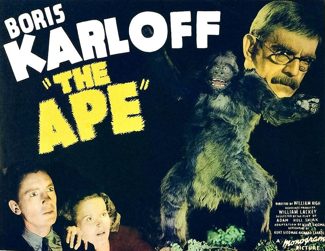 Lobby card from The Ape (1940)