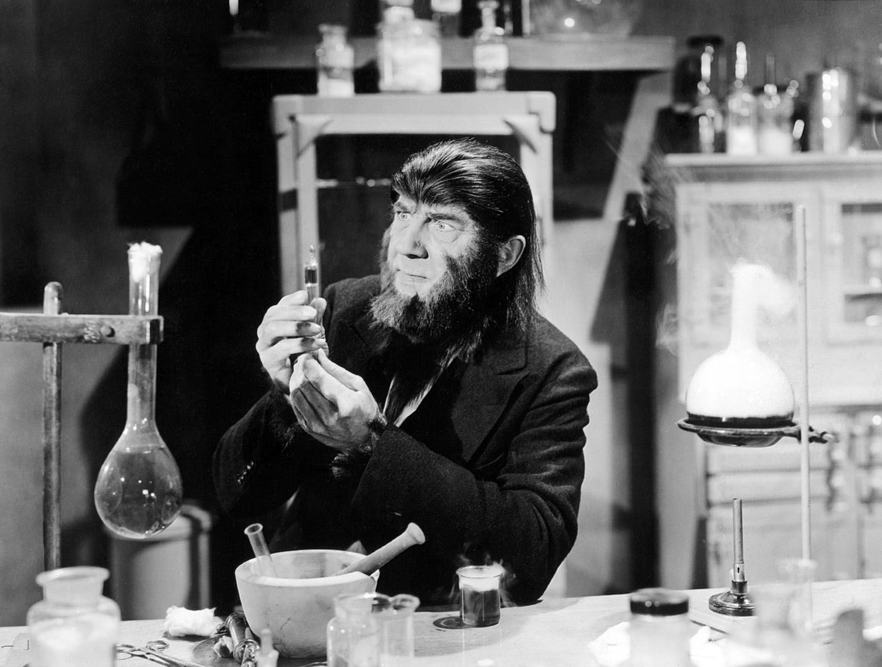 Bela Lugosi as mad scientist James Brewster in The Ape Man (1943)