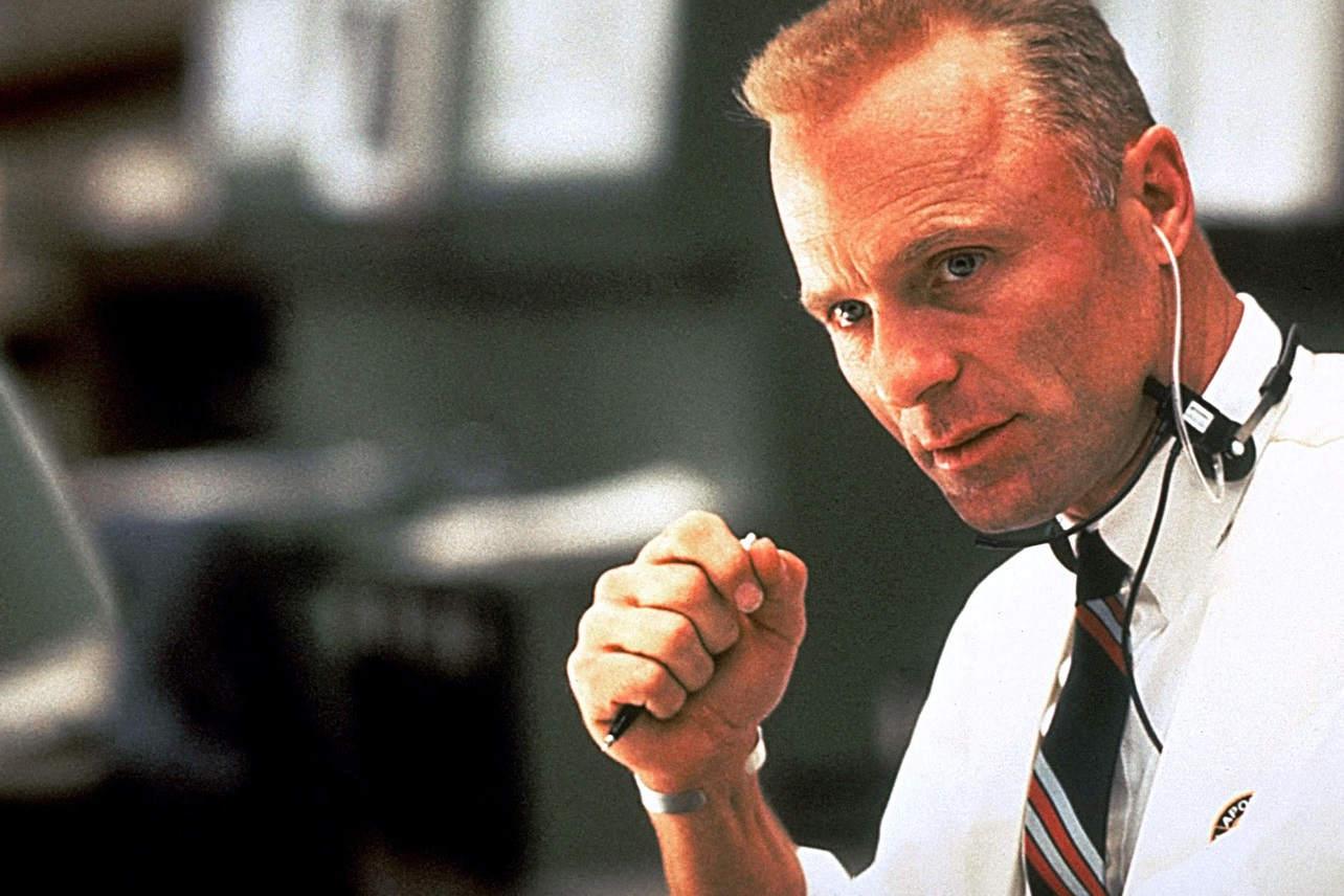 Mission controller Gene Krantz (Ed Harris) in Apollo 13 (1995)