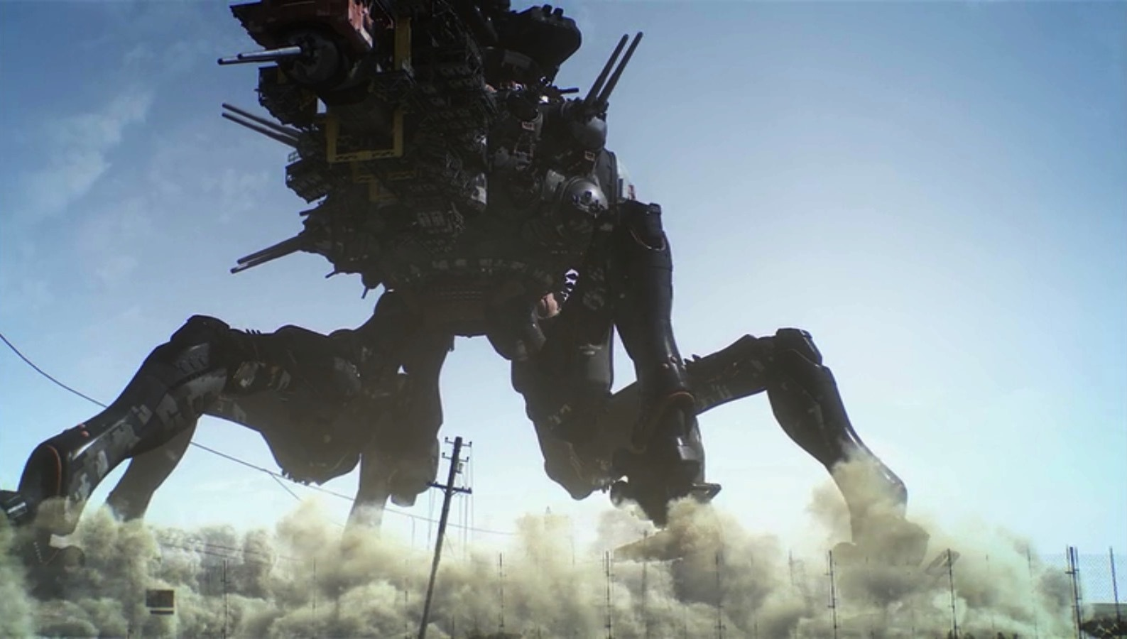 The massive battle machine in Appleseed Alpha (2014)