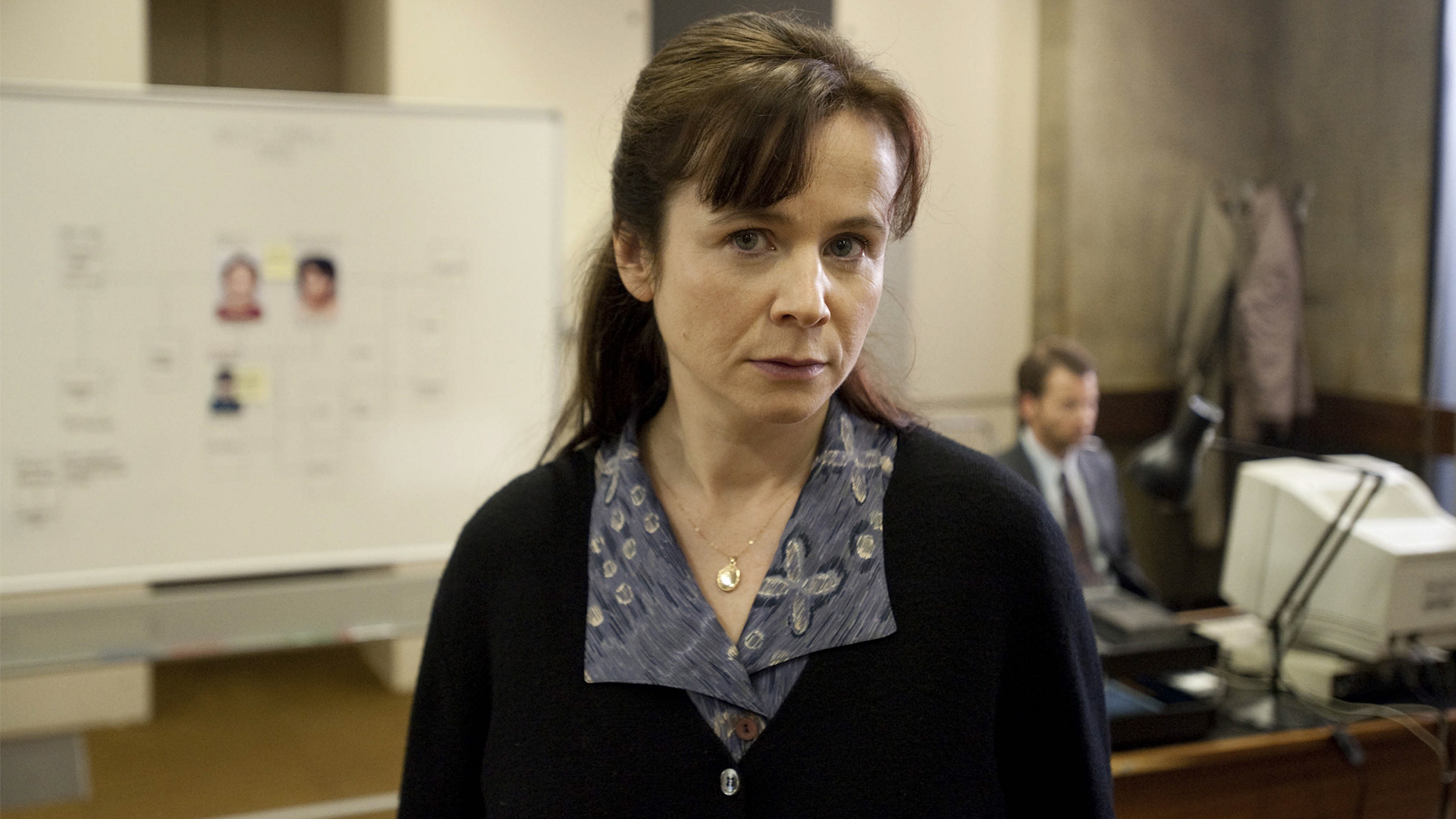 Emily Watson as Fred West's assigned appropriate adult Janet Leach in Appropriate Adult (2011)