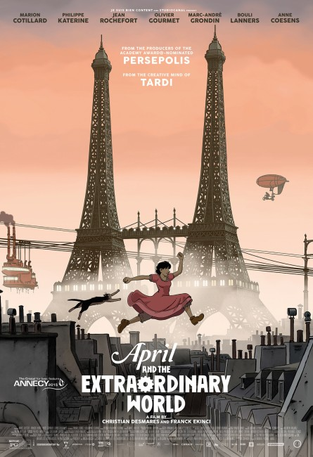 April and the Extraordinary World (2015) poster