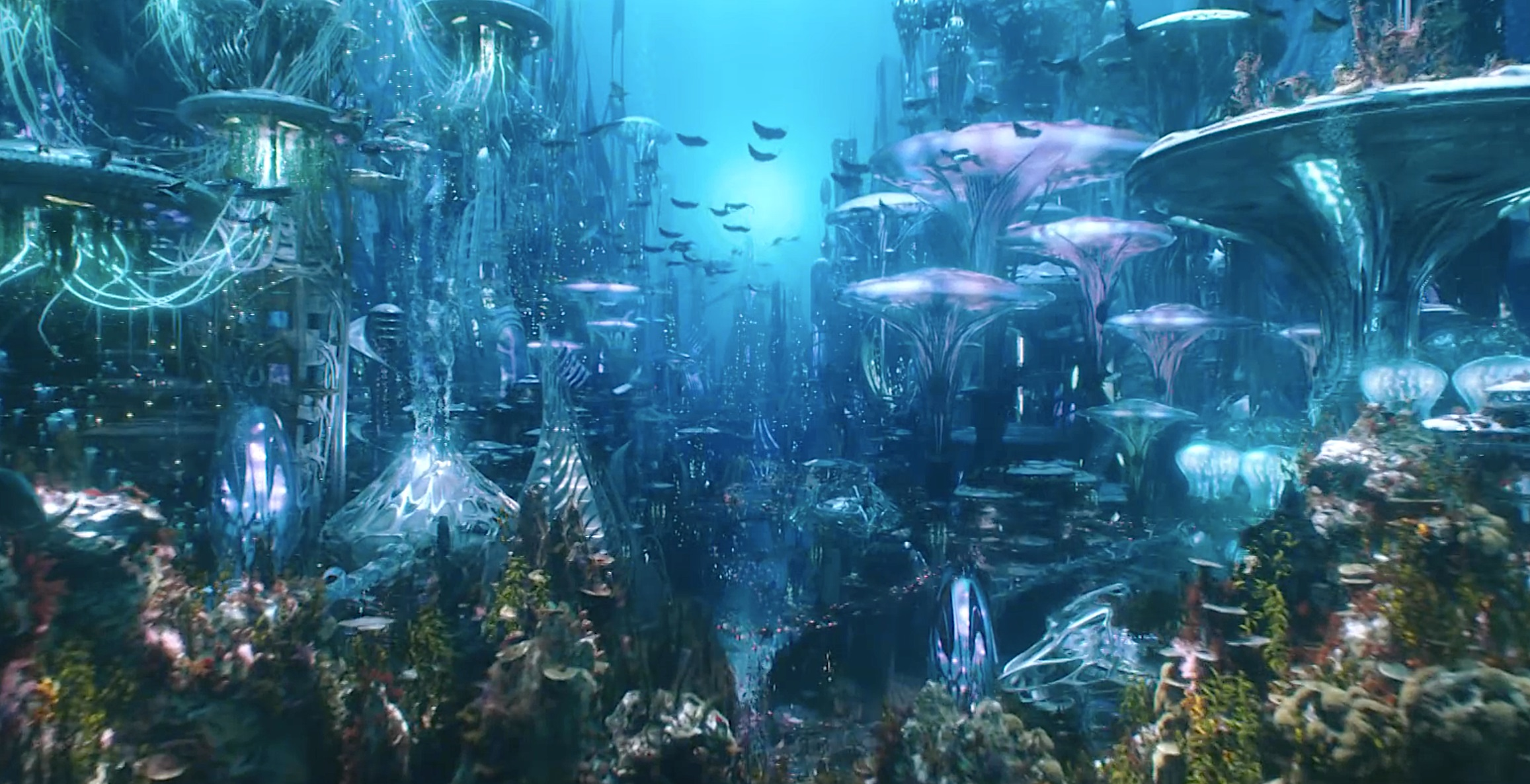 The city of Atlantis in Aquaman (2018)