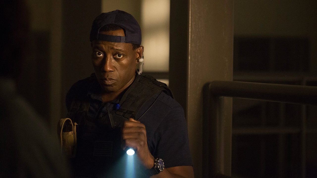 Wesley Snipes investigates an automated prison in Armed Response (2017)
