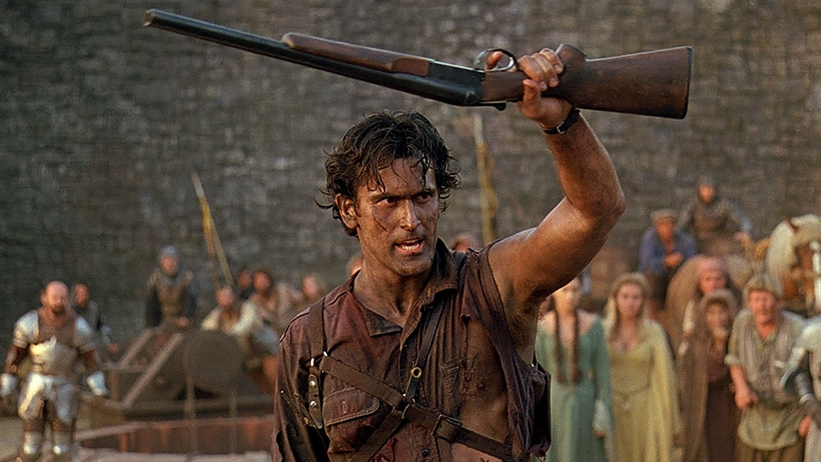 Bruce Campbell thrown back to Mediaeval times in Army of Darkness (1992)