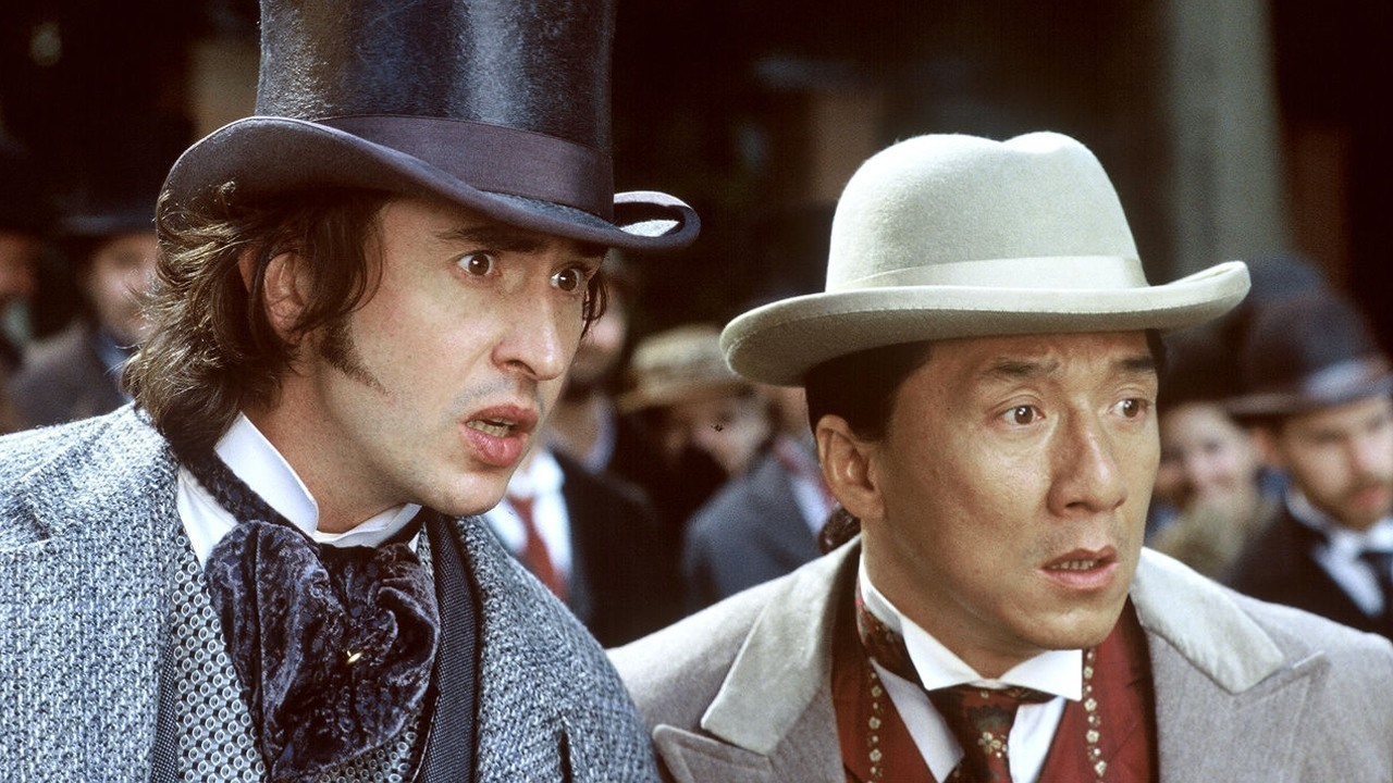 (l to r) Phileas Fogg (Steve Coogan) and Passepartout (Jackie Chan) in Around the World in 80 Days (2004)