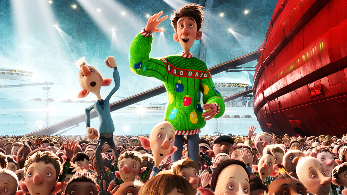 Arthur and the elves in Arthur Christmas (2011)