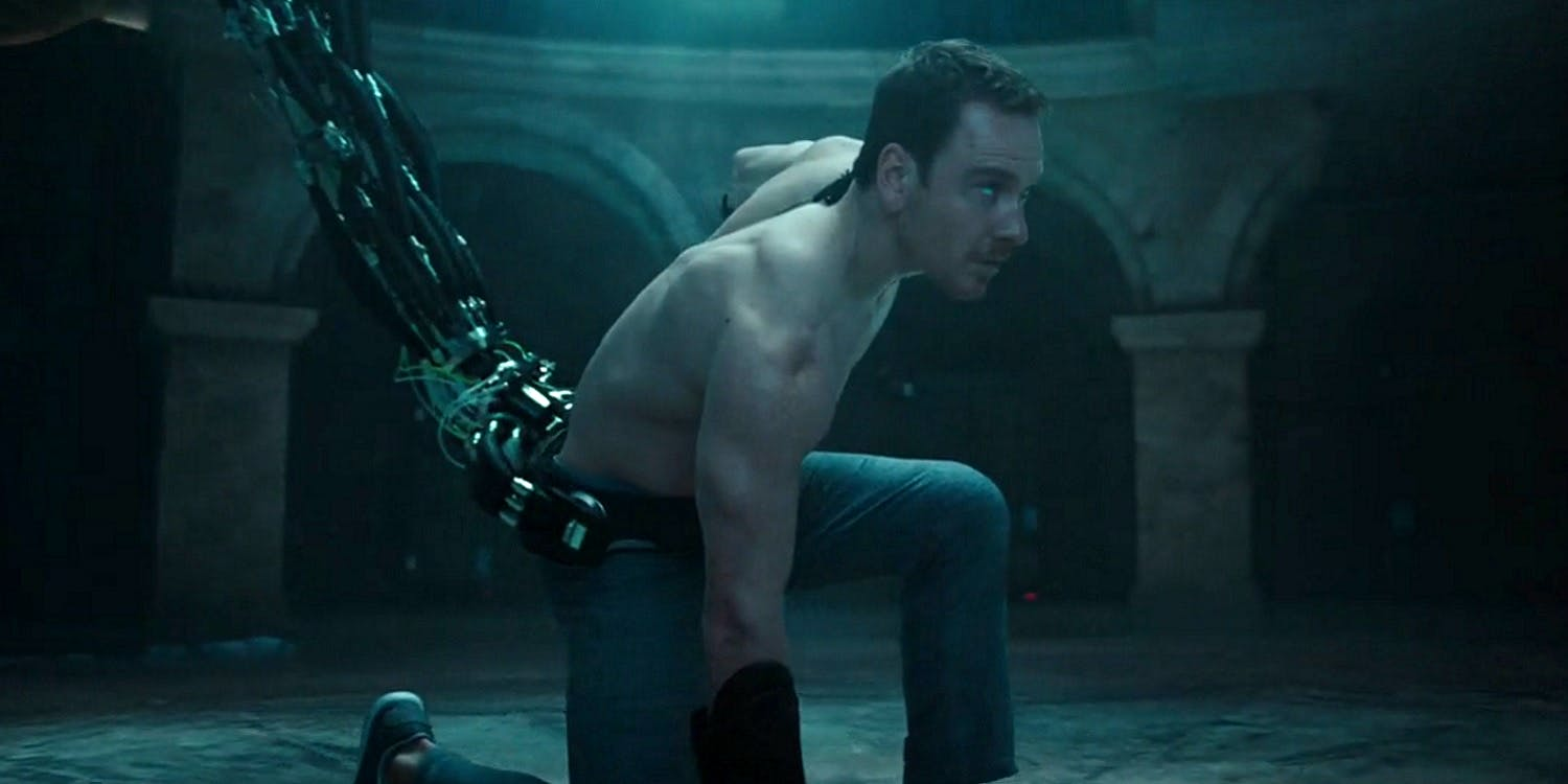 Michael Fassbender in The Animus in Assassin's Creed (2016)