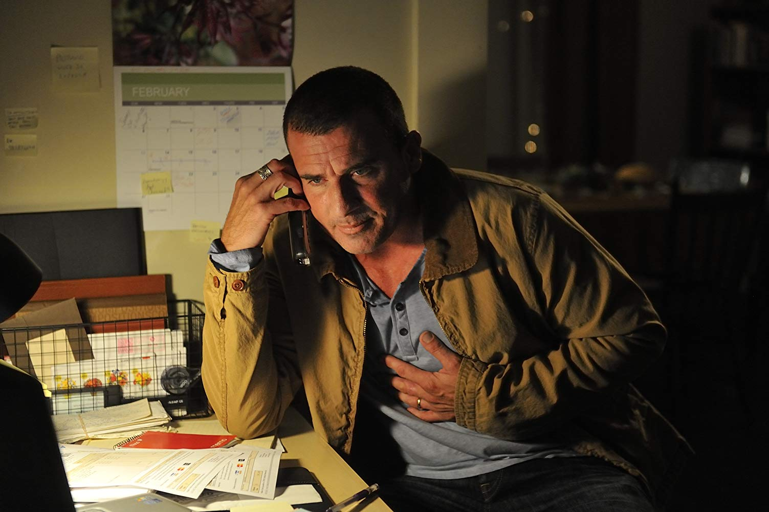 Dominic Purcell as a regular average guy struggling amidst the financial crisis in Assault on Wall Street (2013)