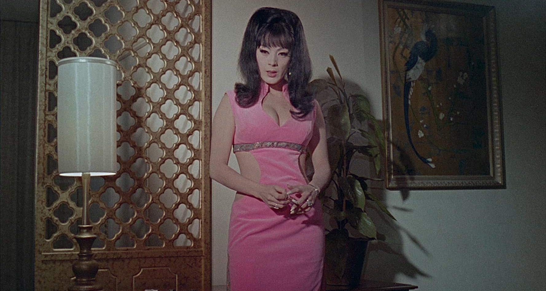 Cult queen Tura Satana as a spy in The Astro-Zombies (1968)
