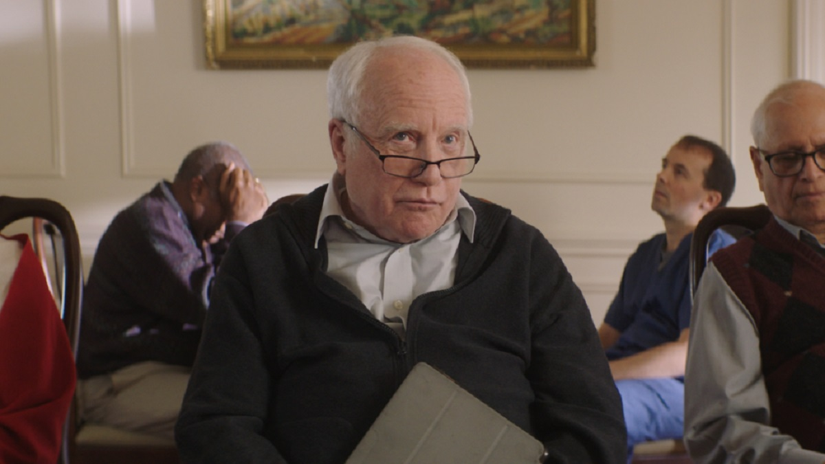 Richard Dreyfuss as Angus Stewart,a senior obsessed with a dream of going into space in Astronaut (2019)