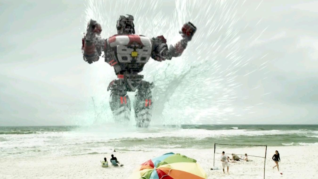 The Red Armada emerges up out of the ocean in Atlantic Rim (2013)