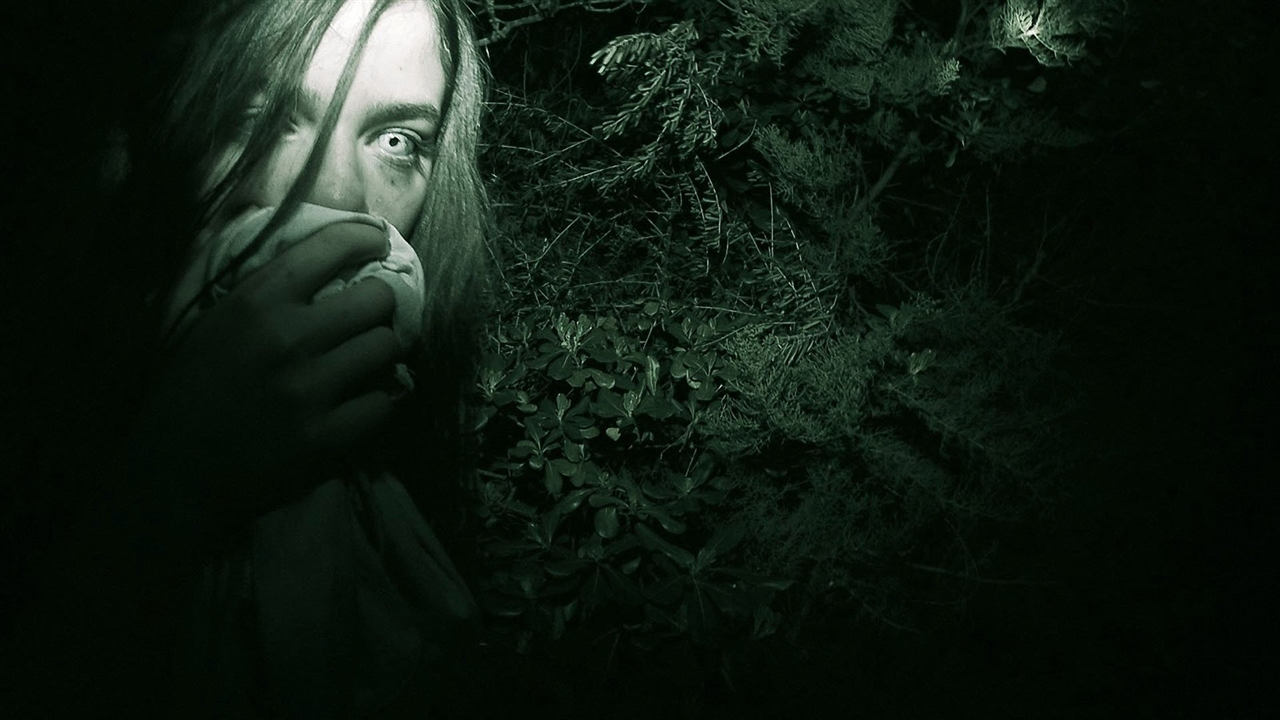 Clara Moraleda in the haunted woods in Atrocious (2010)
