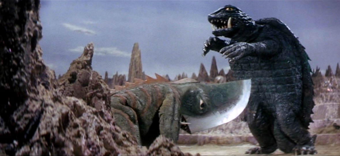 Gamera vs Guiron in Attack of the Monsters (1969)