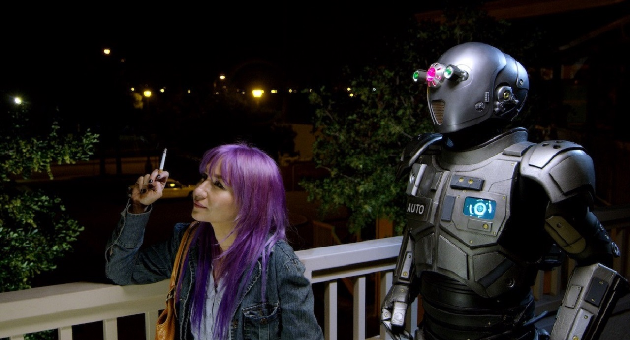 Elissa Dowling and the robot Auto in Automation (2019)