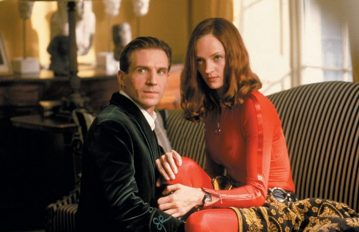 John Steed (Ralph Fiennes) and Emma Peel (Uma Thurman) in The Avengers (1998)
