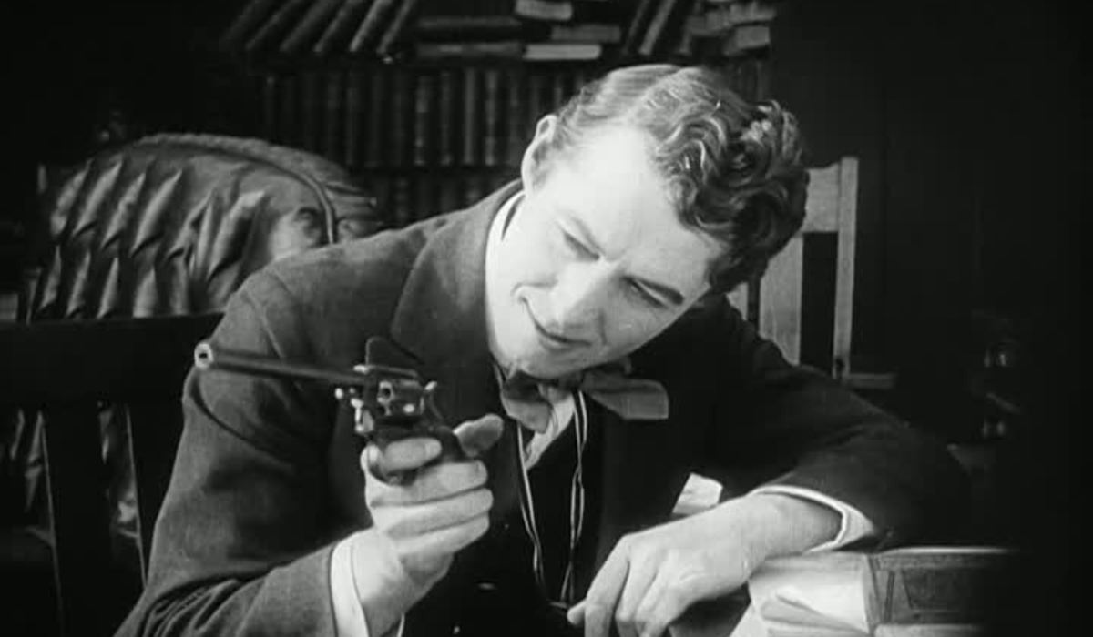 The Nephew (Henry B. Walthall) contemplates murder in The Avenging Conscience or Thou Shalt Not Kill (1914)