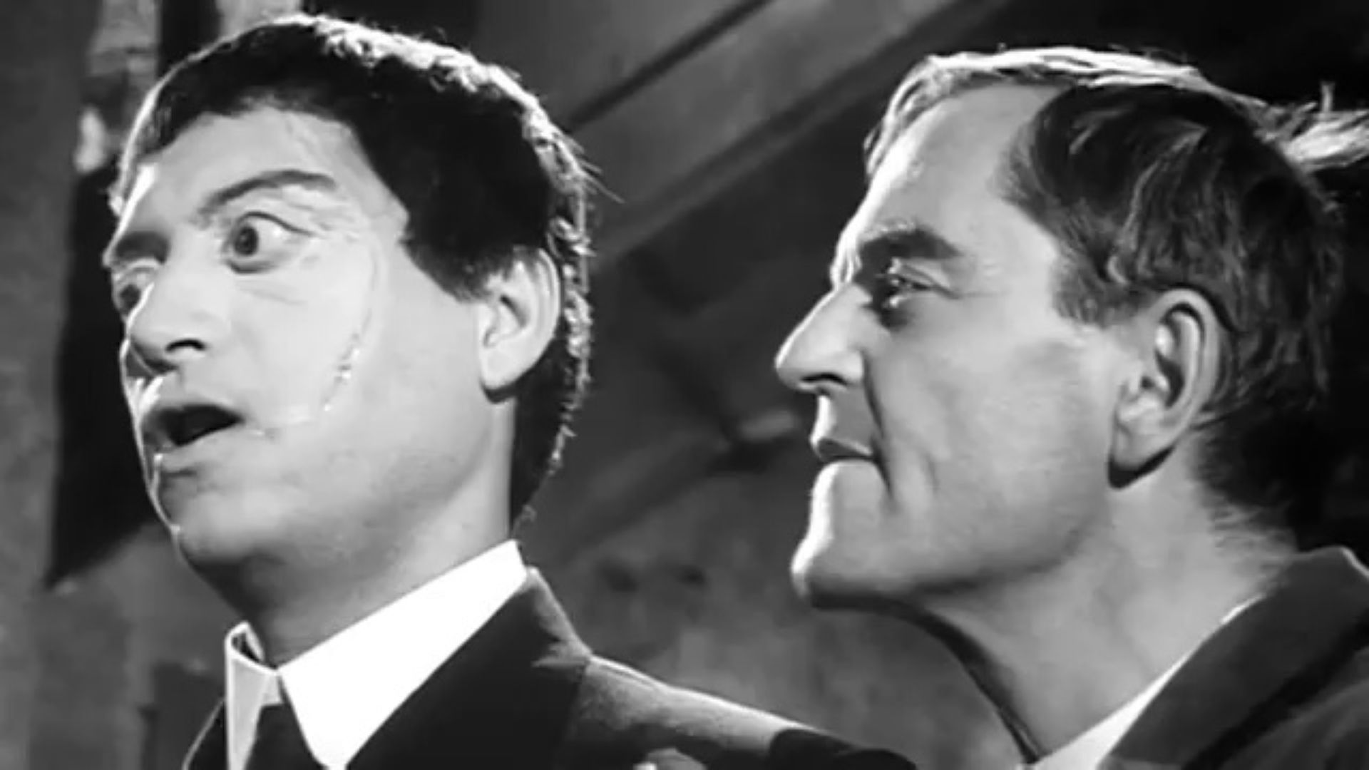 Dr Orloff (Howard Vernon) and Morpho (Riccardo Valle) in The Awful Dr Orloff (1962)