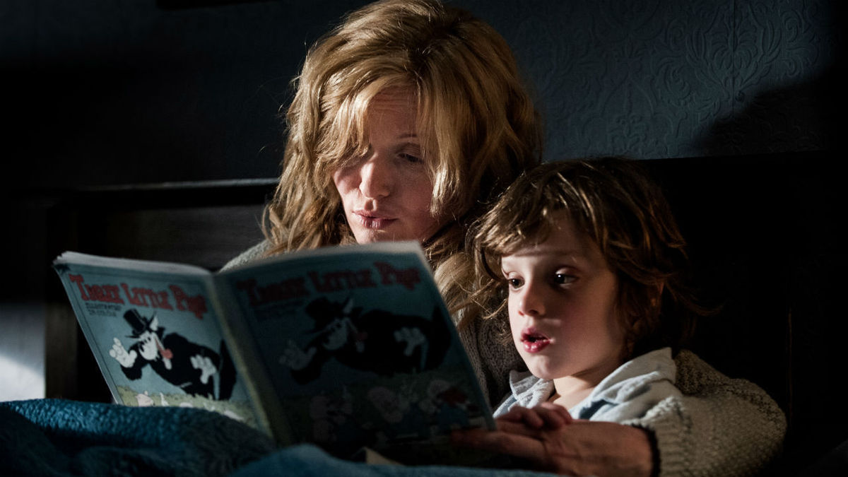 Essie Davis reads a bedtime story to her son Noah Wiseman in The Babadook (2014)