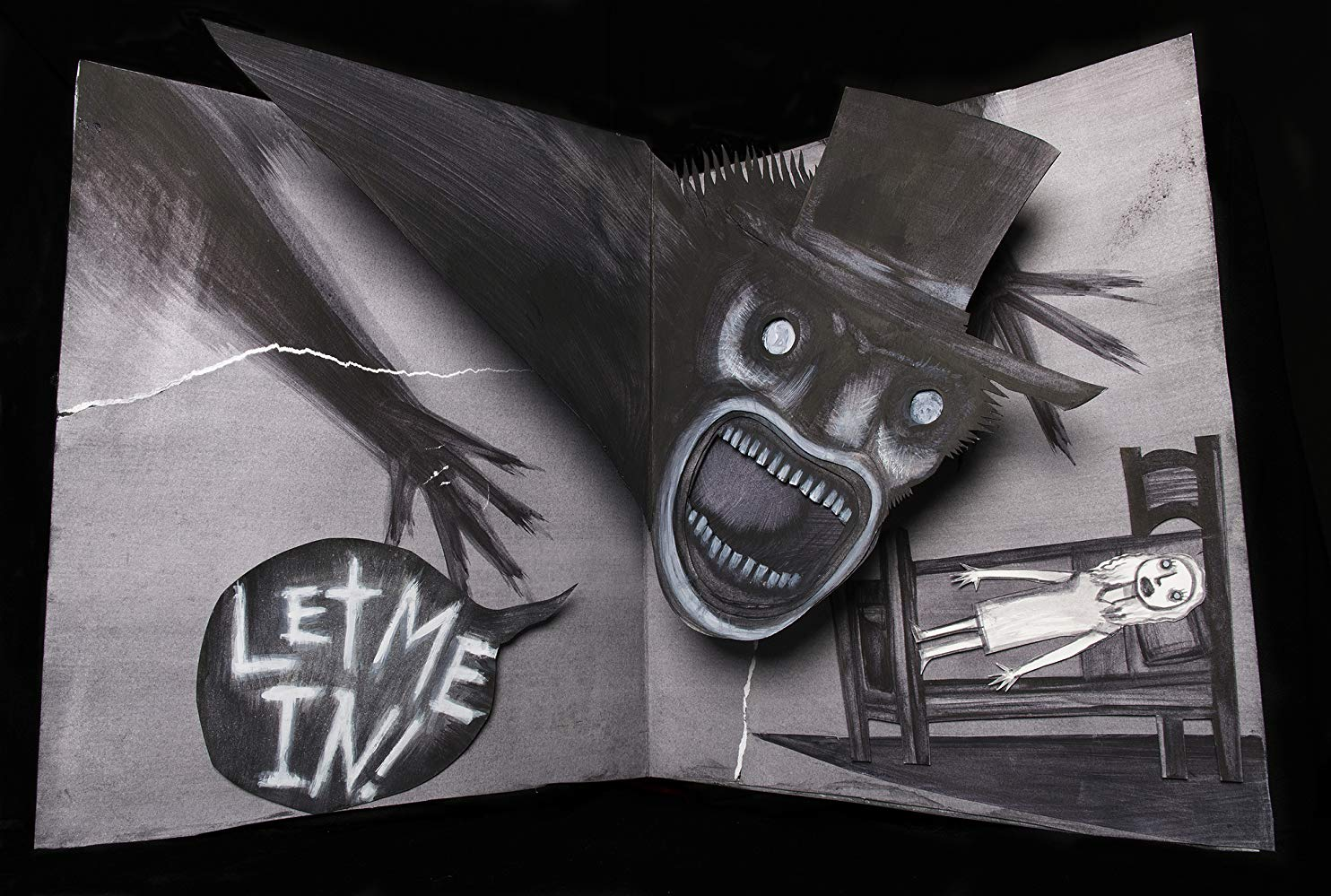 The Babadook emerges from a children's story in The Babadook (2014)