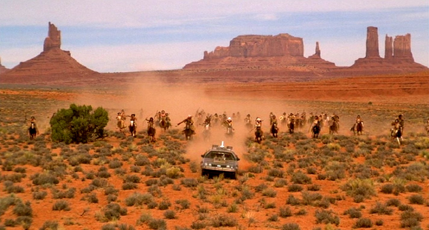 The DeLorean back in the Wild West in Back to the Future Part III (1990)