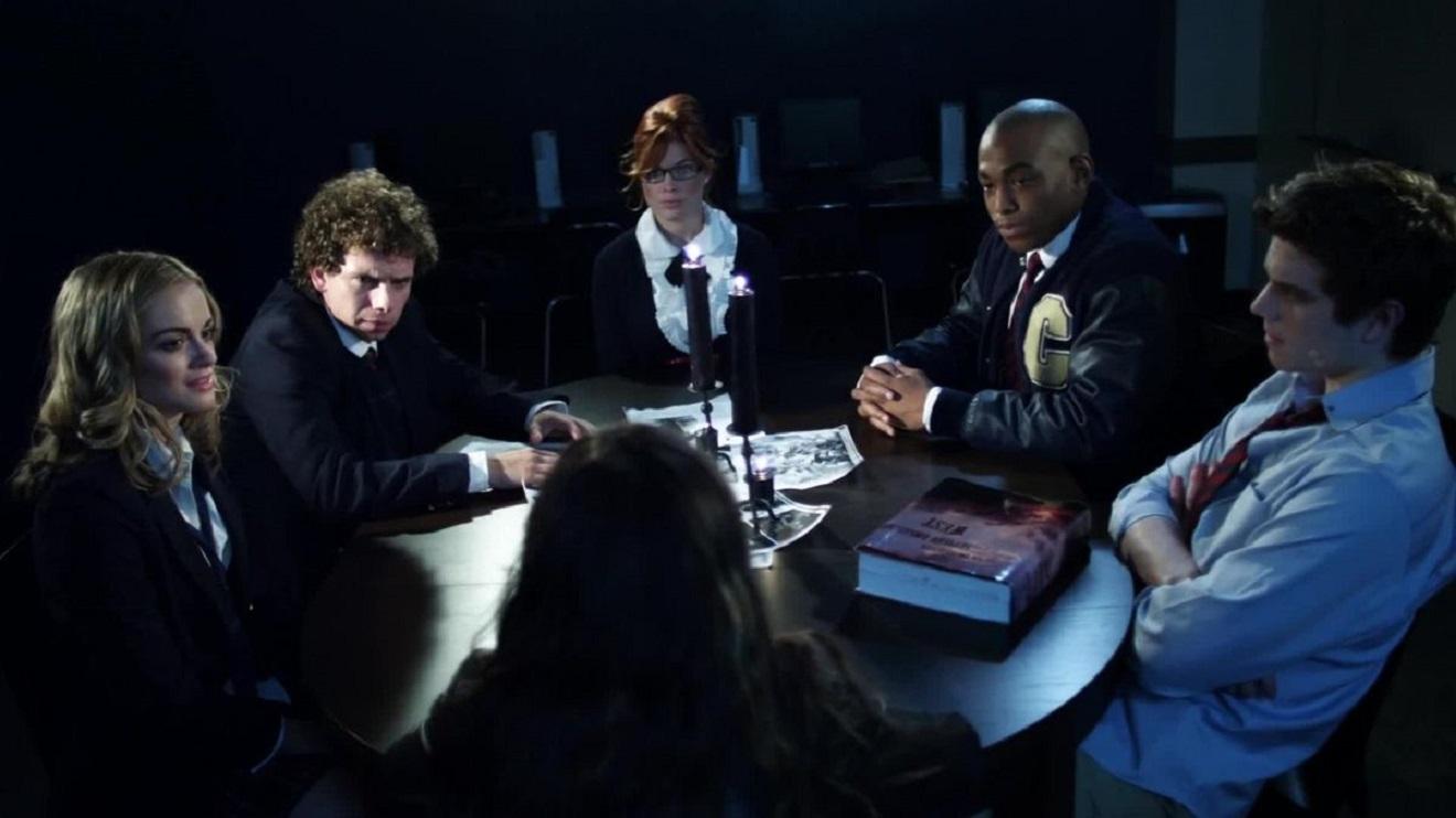 Ali Faulkner, Marc Donato, Amanda Aich, Roger Edwards, Cameron Deane Stewart in Bad Kids Go to Hell (2012)