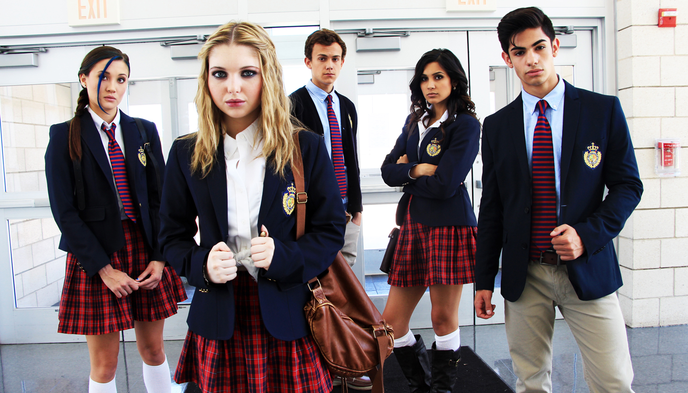 The Bad Kids - (l to r) Erika Daly, Sami Hanratty, Colby Arps, Sophia Taylor Ali and Matthew Frias in Bad Kids of Crestview Academy (2017)