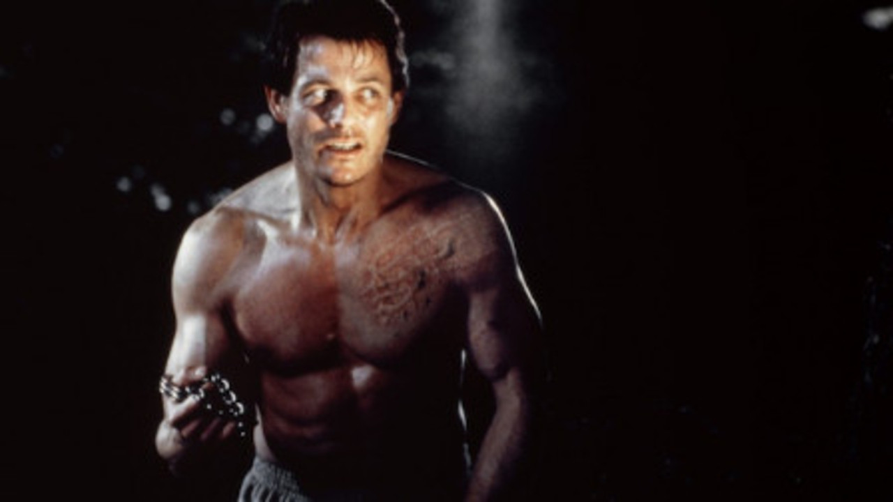 Michael Paré becomes a werewolf in Bad Moon (1996)