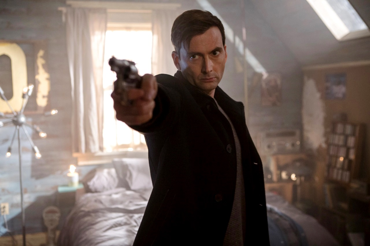 David Tennant as serial killer Cale Erendreich in Bad Samaritan (2018)