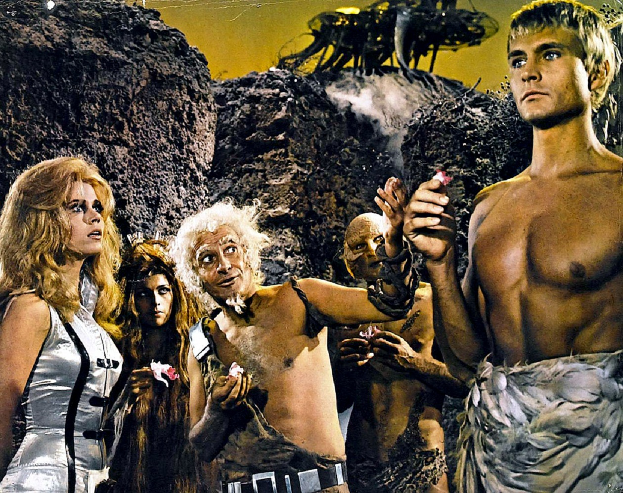 Barbarella (Jane Fonda) and the blind angel Pygar (John Phillip Law)
