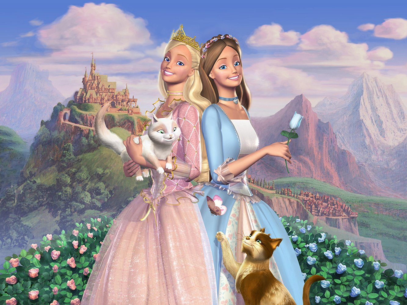 Princess Elise and Elise in Barbie as The Princess and the Pauper (2004)