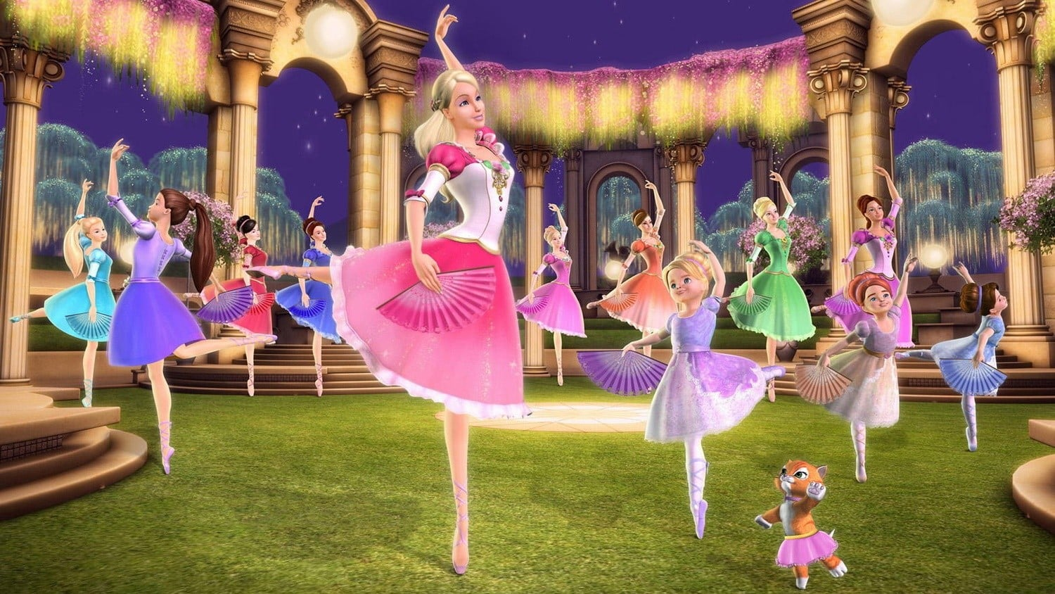 The twelve dancing princesses in Barbie in The 12 Dancing Princesses (2006)